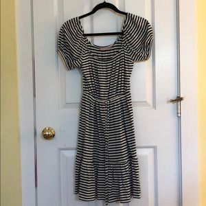 Juicy Couture cotton black and white stripe dress